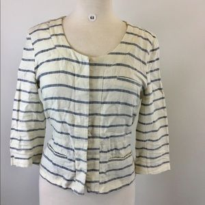 MERONA Stripes mid Sleeve Jacket Size M (B-63)